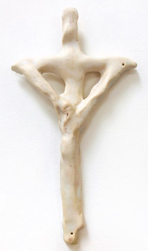 Richard Lewer  Crucifix #20,  2018 Fired stoneware 220 x 130 mm  _______