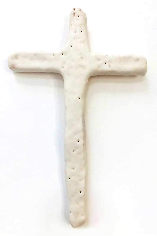 Richard Lewer  Crucifix #29,  2018 Fired stoneware 240 x 155 mm  _______