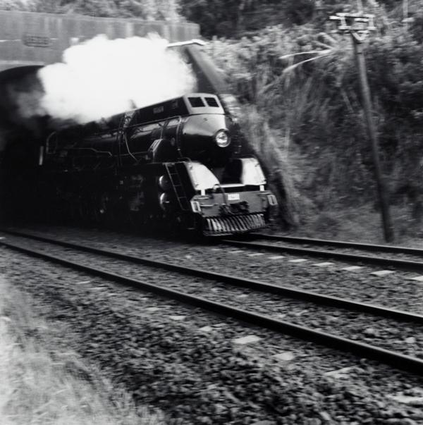 Peter Peryer  Engine Leaving Glen Innes Tunnel,  1992 Signed vintage silver gelatin print 353 x 353 mm  ______