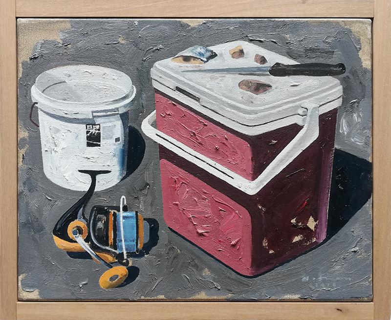 Geoffrey Notman  Untitled study #8 , 2018 Oil on canvas 345 x 420 mm  ______