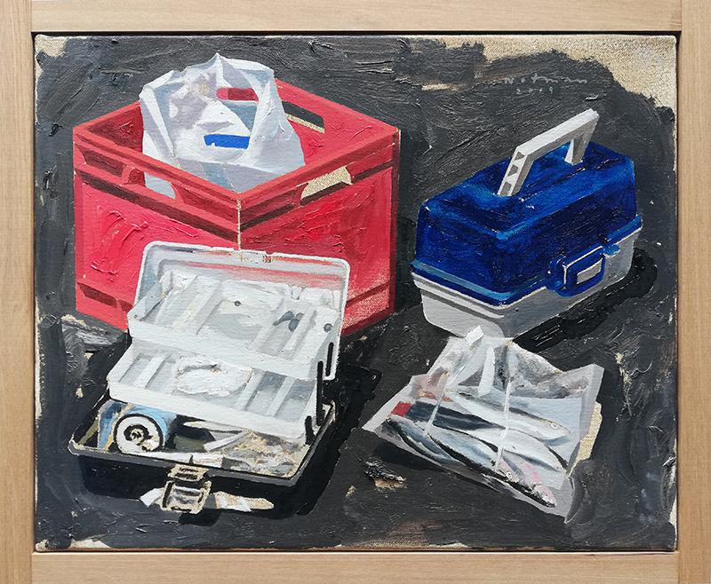 Geoffrey Notman  Untitled study #7 , 2018 Oil on canvas 345 x 420 mm  ______