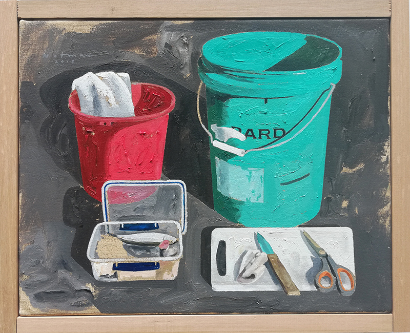 Geoffrey Notman  Untitled study #4  2018 Oil on canvas 345 x 420 mm [Private collection]  ______