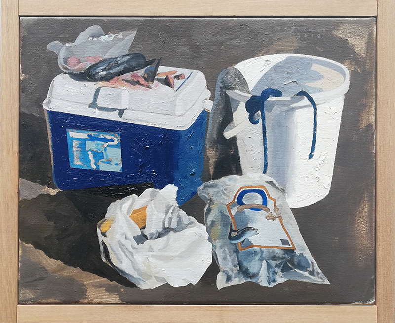 Geoffrey Notman  Untitled study #3 , 2018 Oil on canvas 345 x 420 mm $2,000 incl. GST  ______