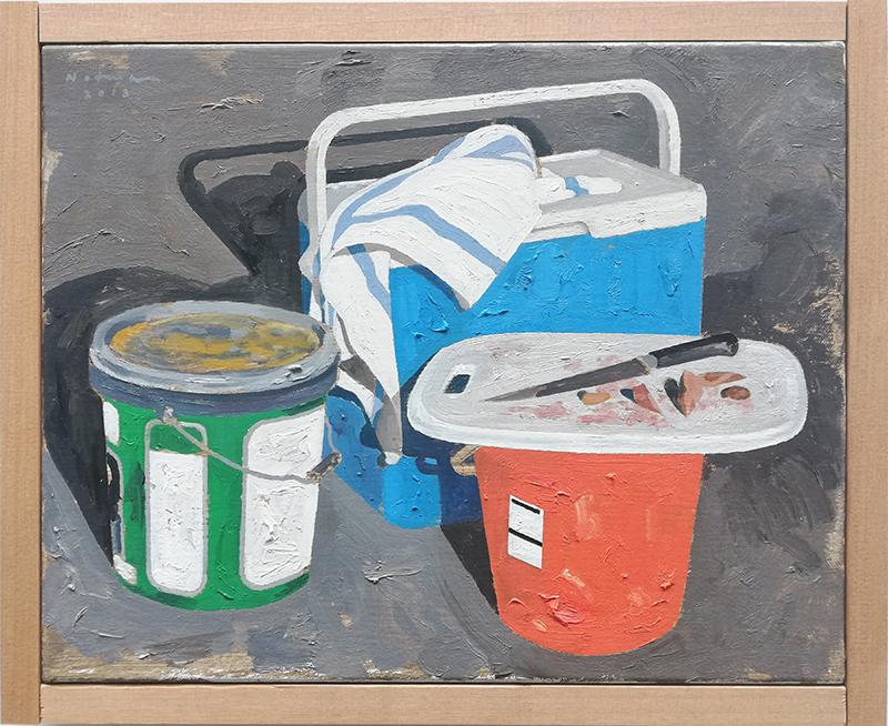 Geoffrey Notman  Untitled study #2 , 2018 Oil on canvas 345 x 420 mm  ______