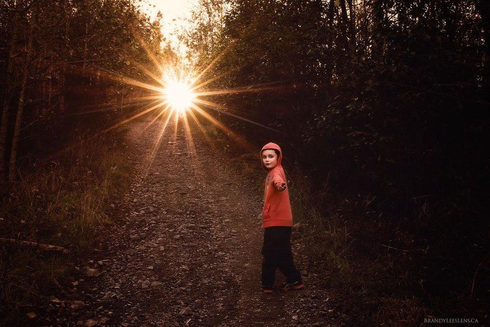 Brandy-Lee's Lens, Vancouver Island, Sun Flare