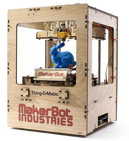 Fig. 5 Maker bot open source 3D printer is just one of the many tools that empower the maker.