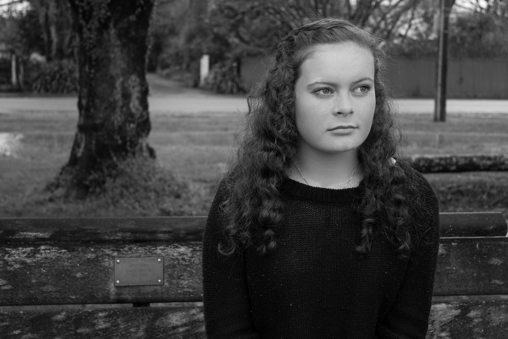 A photo of Mel (Fergus's girlfriend) from my project.