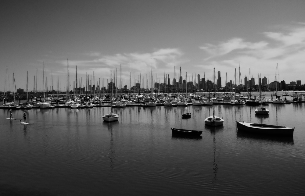 View of Melbourne from the St Kilda Breakwater.