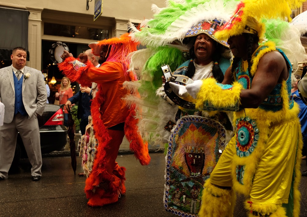 Mardi Gras Indians, Royal Street, New Orleans.