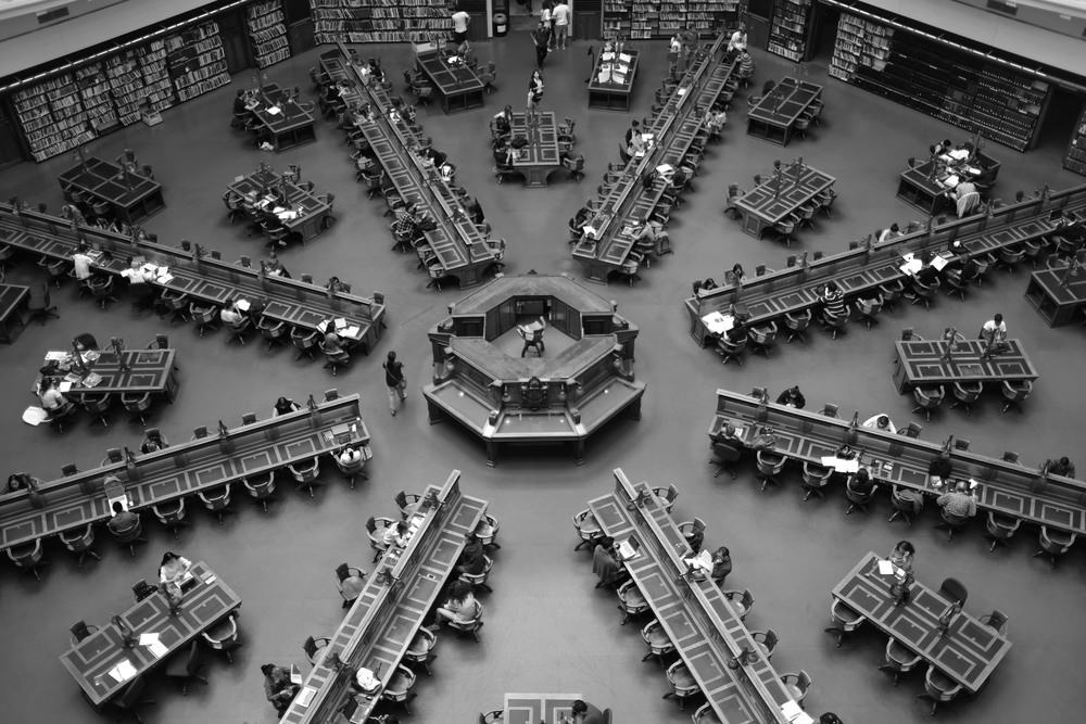 Reading Room, State Library of Victoria, Melbourne.