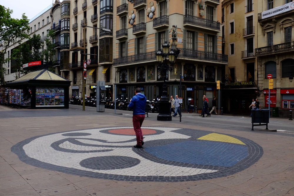 Mosaic by Joan Miró on Las Ramblas