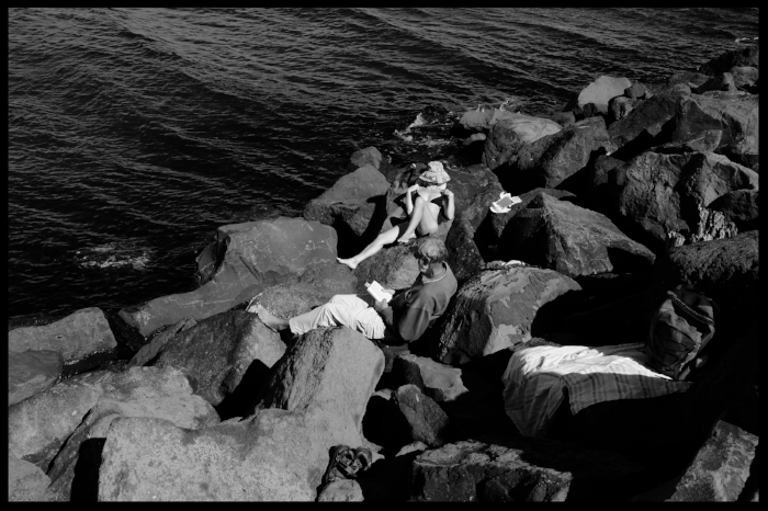 Reader at the St Kilda breakwater, Melbourne, Australia. Credit: Kevin Rabalais