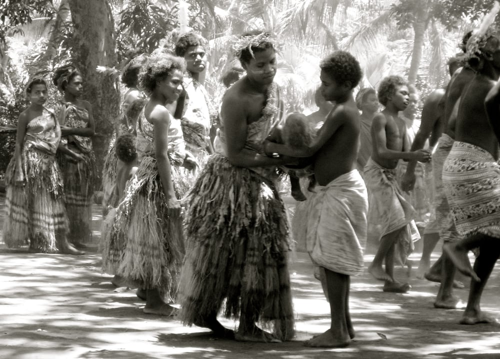 "Communities in the ""kastom"" movement in Vanuatu often choose not to send their children to school, but to educate them traditionally in their own culture and livelihoods."