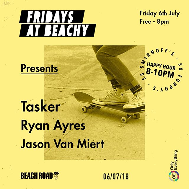 We love Fridays! Dj's upstairs from 8pm ft/ Tasker, Ryan Ayres & Jason Van Miert. Don't forget to head in early for happy hour! $6 Furphy cans & $5 Smirnoff from 8pm until 10pm.  #fridays #tgif #beachroadhotel #weekendvibes #party #fridaysatbeachy #bondi #music #djs