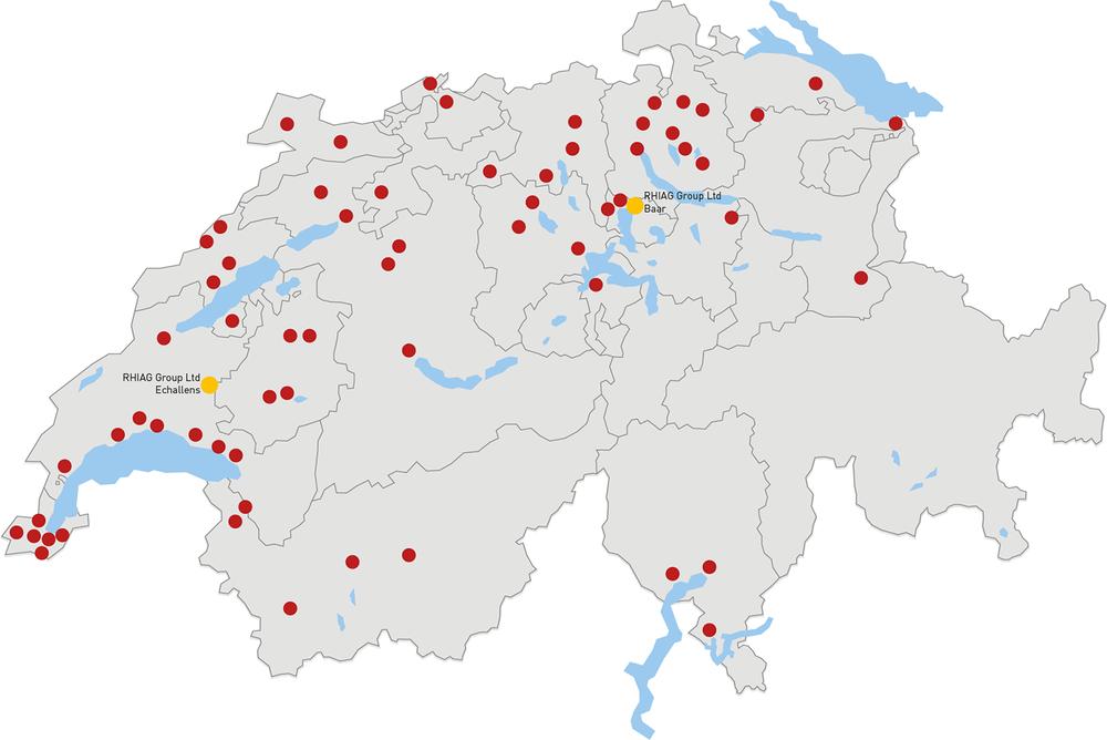 Starline is bei über 60 Grosshändler in der ganzen Schweiz erhältlich