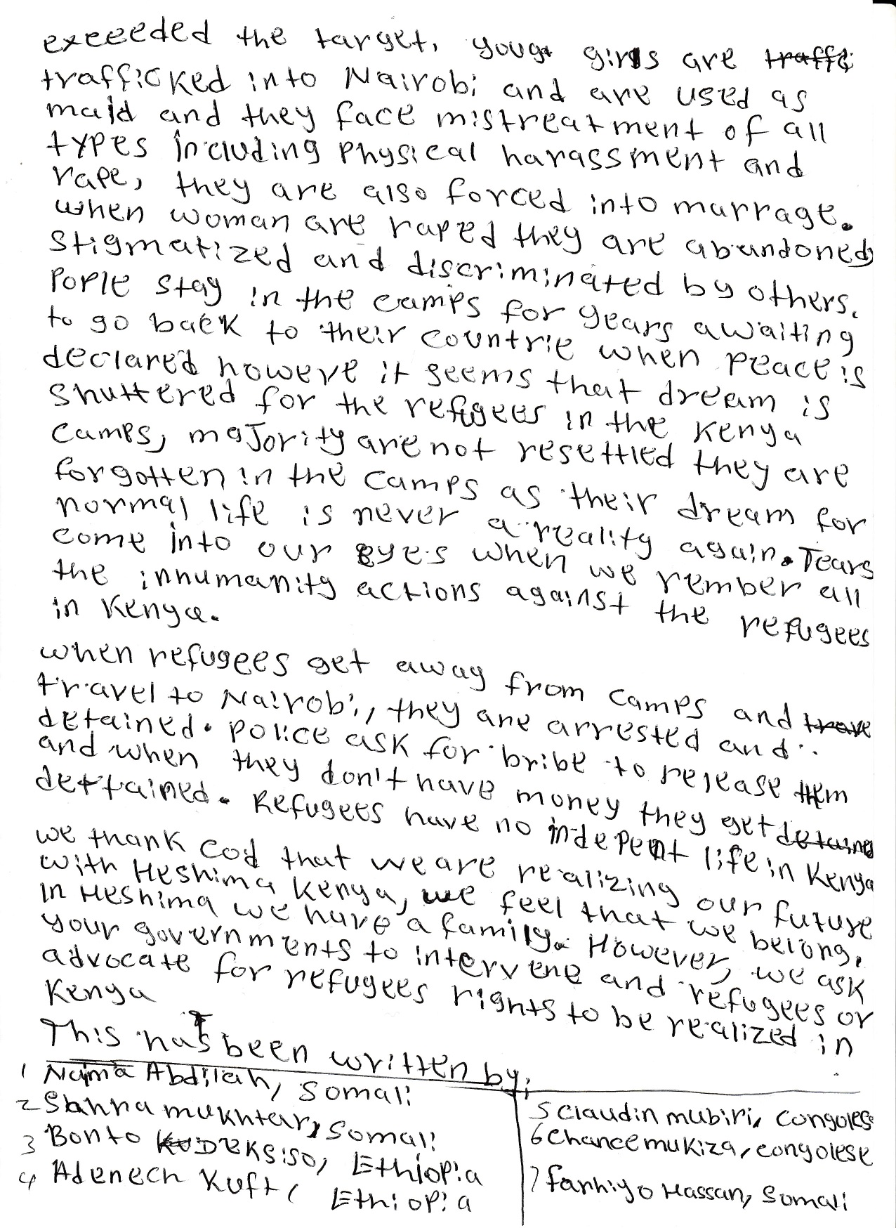 World Refugee Day: Heshima Girls Letter To President Obama (Part 2)