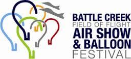 Click to visitBattle Creek Field of Flight Air Show & Balloon Website.