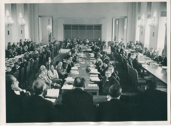 Ninth AICA Congress and Eighteenth General Assembly, Prague, Czechoslovakia, 1966. From the Archives of AICA International; Courtesy of the Archives of Art Criticism in Rennes, France.