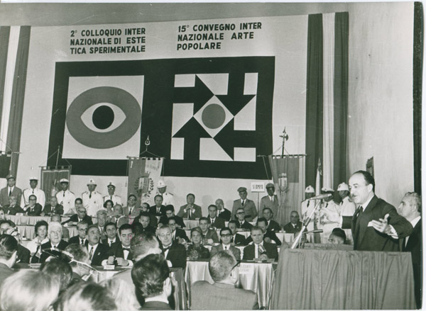 Nineteenth General Assembly in Rimini, Italy, 1967. From the Archives of AICA International; Courtesy of the Archives of Art Criticism in Rennes, France.