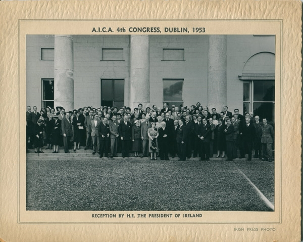 Fourth AICA Congress and Fifth General Assembly in Dublin, Ireland, 1953. From the Archives of AICA International; Courtesy of the Archives of Art Criticism in Rennes, France.