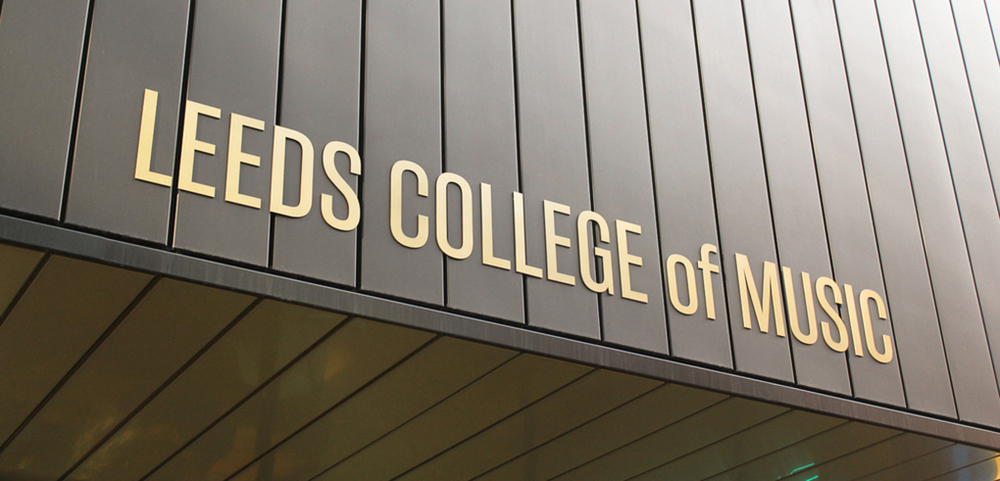Gold lettering was carefully crafted to compliment the beautiful clean lines of the building's zinc clad exterior.
