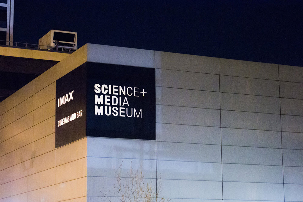 New signage installed to the rear of the Science and Media Museum