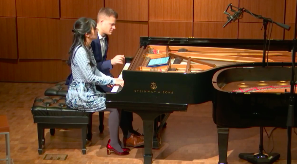 Brahms/Anderson & Roe Lullaby recorded live on PRI's Performance Today. Click here to watch (Lullaby begins at 17:45).