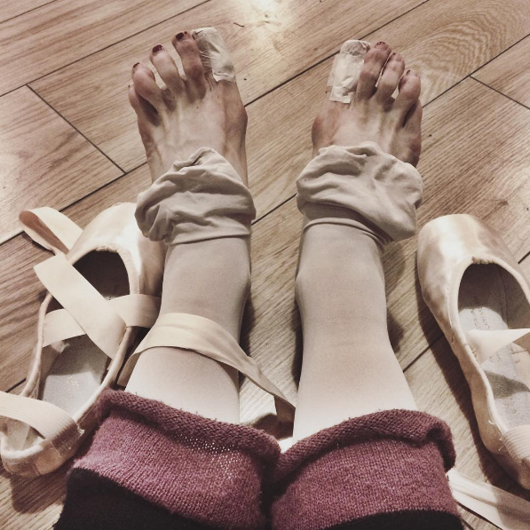 My feet after only 15 minutes of the Sugarplum Fairy variation!