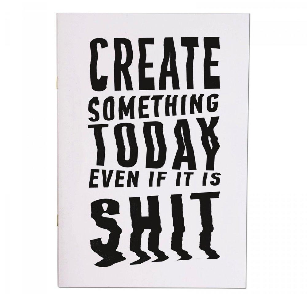 CREATE SOMETHING TODAY A4ISH NOTEBOOKBY ALEKSANDR GUSKOV £4.95