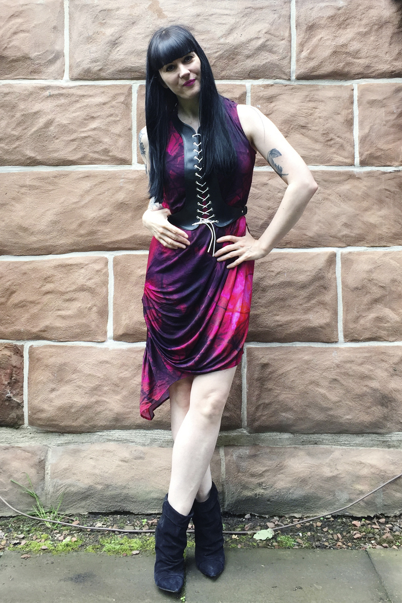 Jean Pierre Braganza dress // Deandri brace // Isabel Marant boots