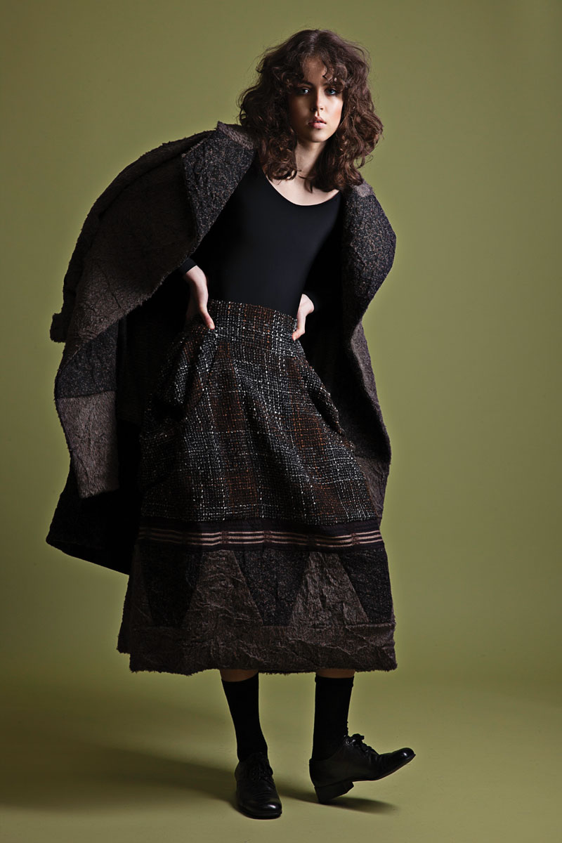TRIINU KNOWS TEXTURE - Estonian designer, Triinu Pungits, is creating a stir with her printed and textured collections.