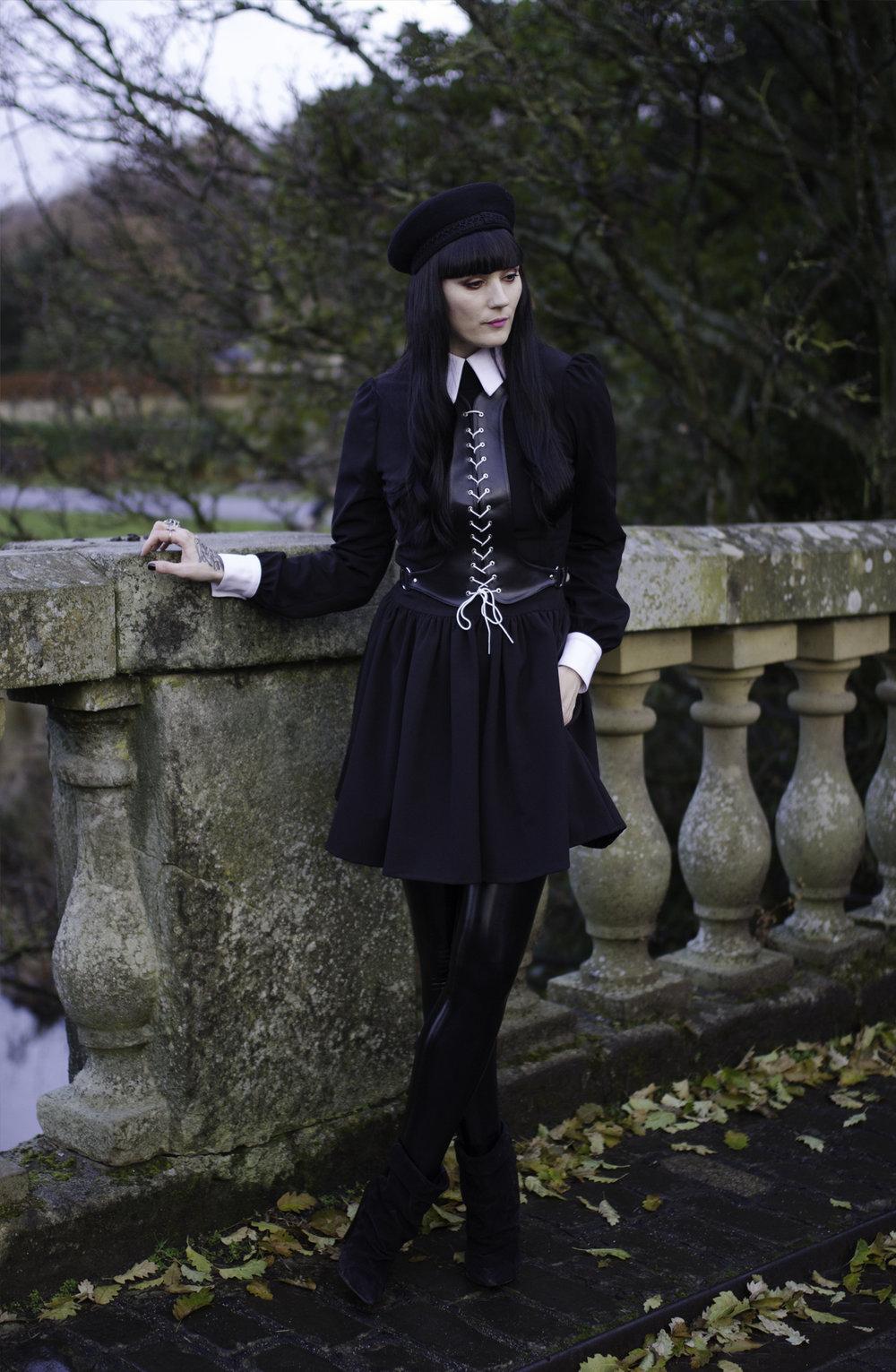 The Details - Deandri dress and harness / Black Milk leggings / Isabel Marant boots