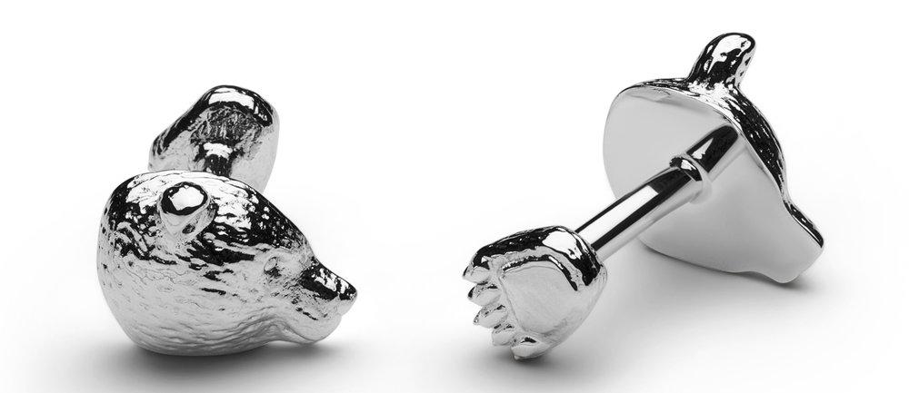 1083-S cufflinks bear silver 1.jpg