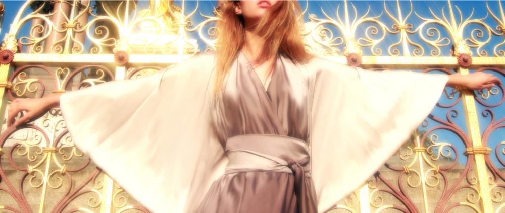 E P O K| Silk wrap dress | ombre