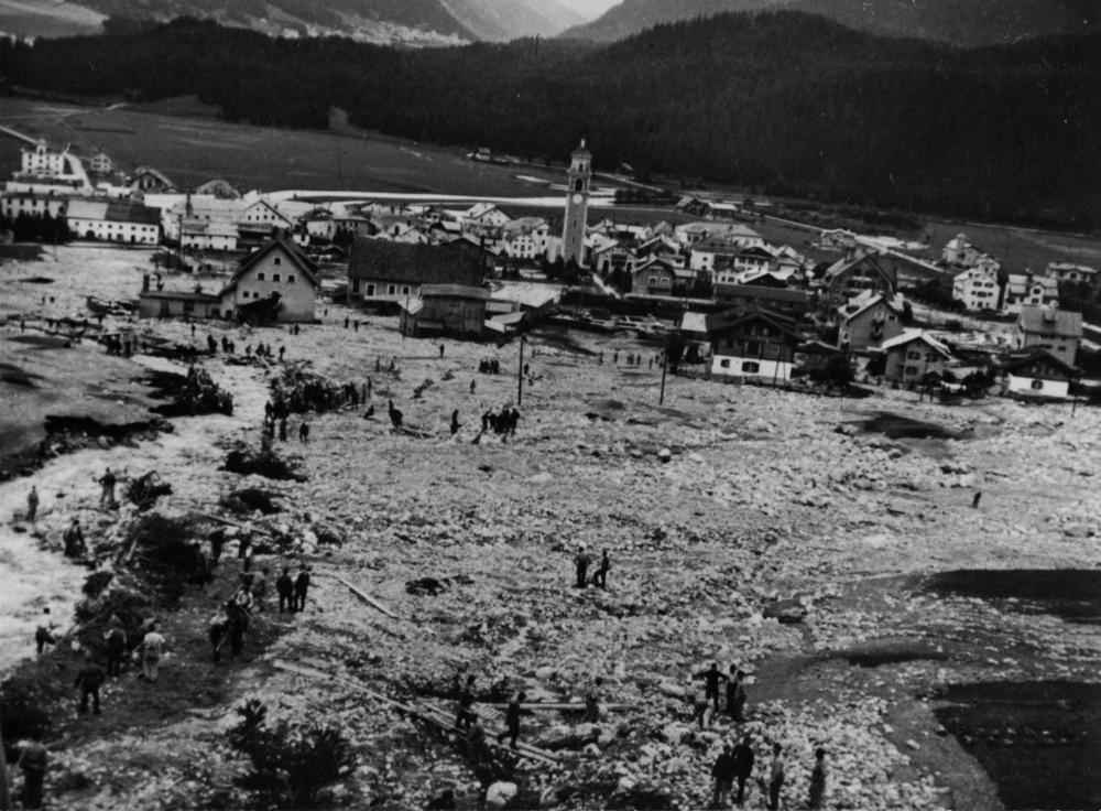 1. September 1944: Die grosse Rüfe (Blick talwärts Richtung Inn-Ebene)