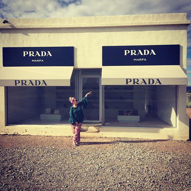 Prada Museum, near Marfa.  #pilgrimage artistpilgrimage #contemporaryart #marfansyndrome