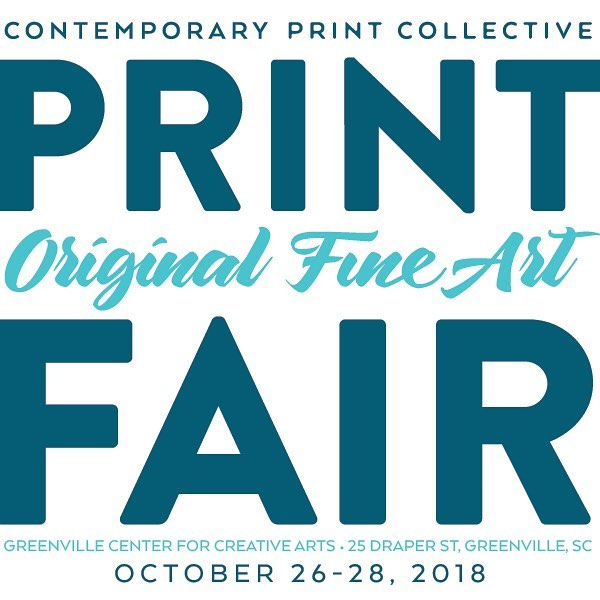 Our Annual Print Fair is this weekend!!!! October 26-28.  At Greenvile Center for Creative Arts, 101 Abney St.  Fine art from a variety of talented artists, plus demos!! #yeahthatgreenville #printmaking #gvltoday #artcentergvl #pattibradystudios