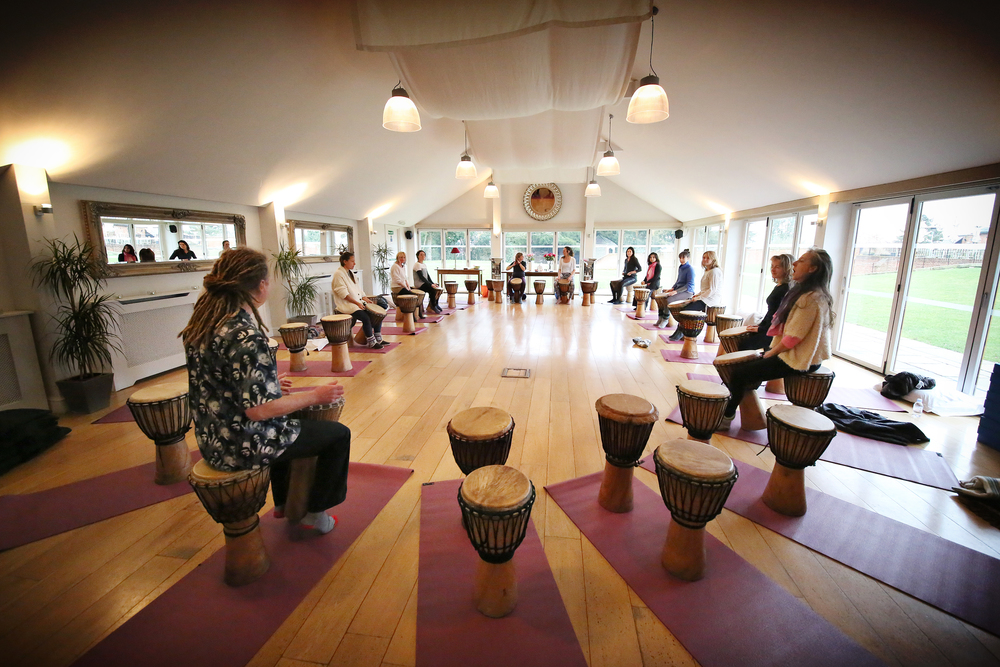 Drums in the Yoga Room.jpg