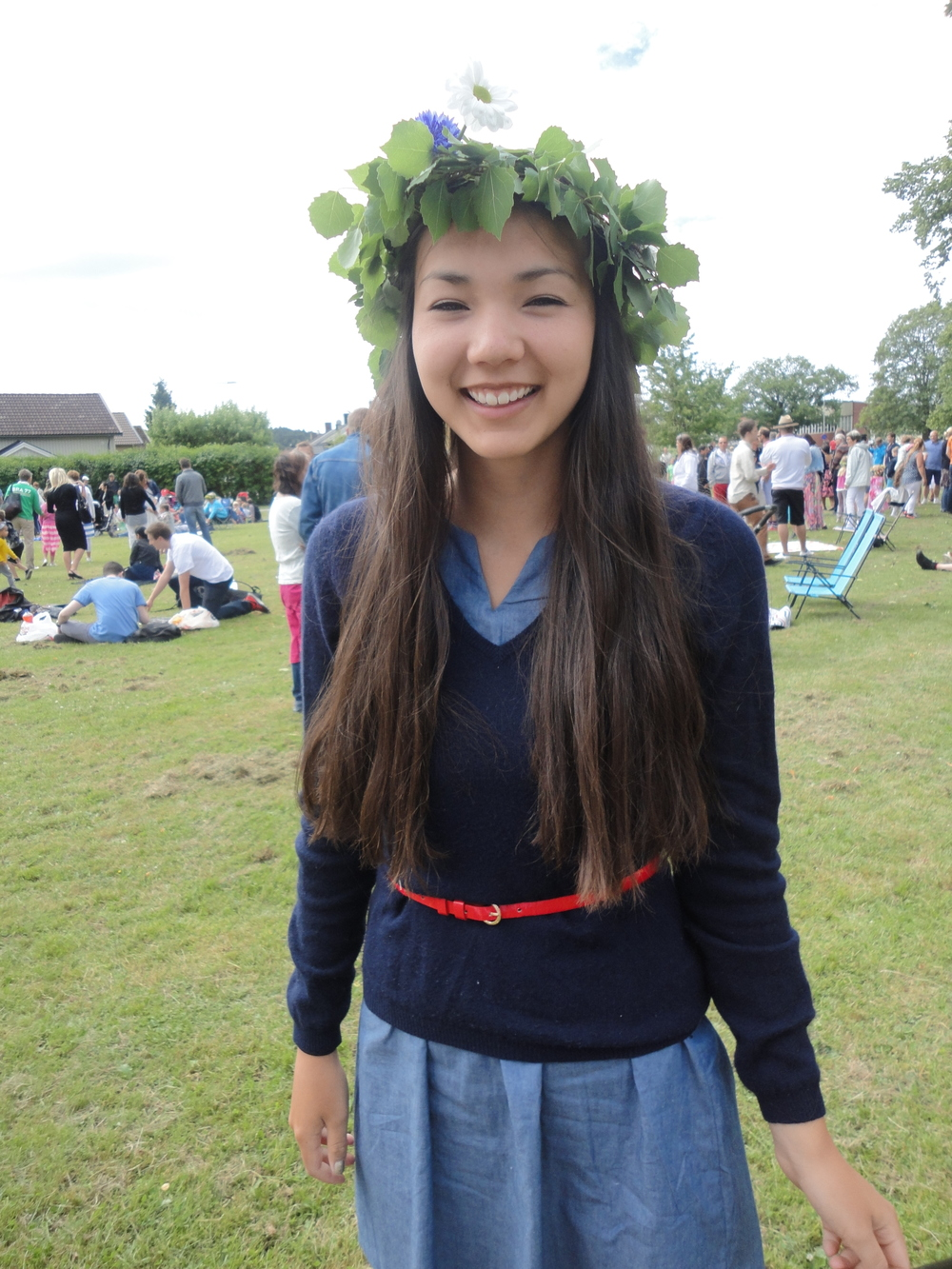 Famous Swedish Midsommar (Midsummer) celebrations always include these flower/wreath crowns, handmade with fresh picked wild flowers.  Participating in the traditions of the culture is one of the greatest privileges of being an exchange student.