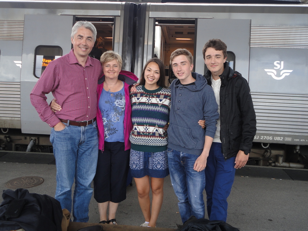 The last day I spent with my host family was so bittersweet, I still remember their last words to me as I boarded the train.  They were the best part of my exchange and I'm so excited to see them in a few months!
