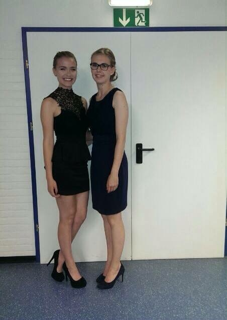 Alles Gute zum Abschluss! Posing with a fellow classmate at the 10th grade graduation ceremony.
