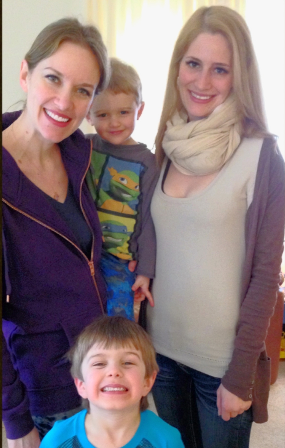 Meg and her multicultural minions (Max Elijah and Milo) with host sister Zita Lettenmeier - taken in Berlin, Feb 2016.