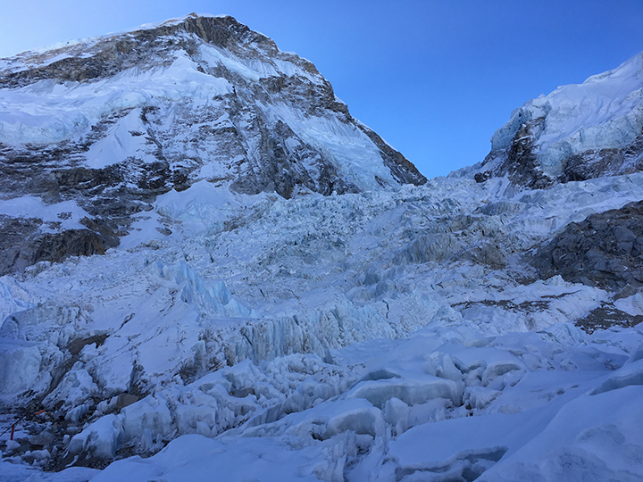 Looking Up Into ~2000' of Cascading Glacier