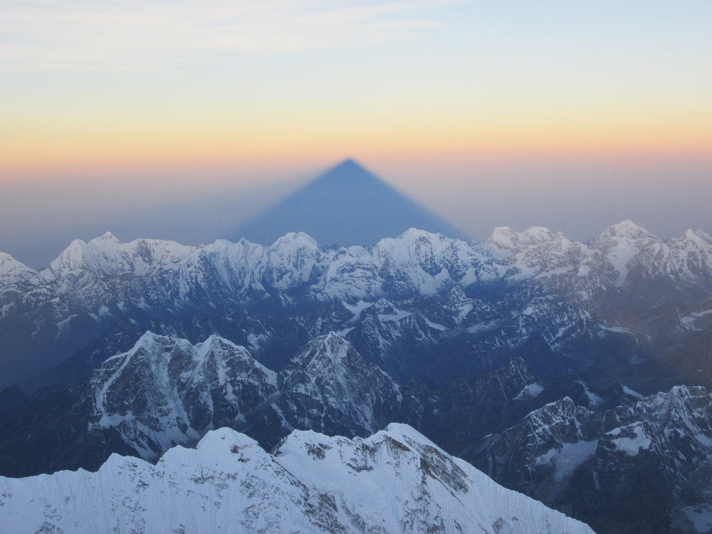 Mt. Everest's shadow