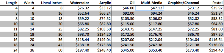 Pricing List                                                                                                                                              *Not including tip