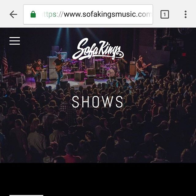 All of our shows through the end of the year are up on our website. www.sofakingsmusic.com