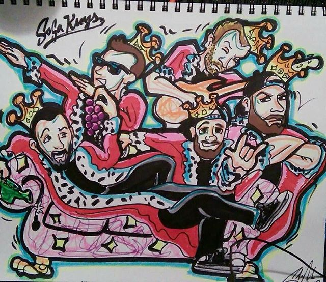 Public Shows of the week: Friday-@cadillaccafe1  Saturday-@ @uncleearls  Artwork by @obiwancannoli_