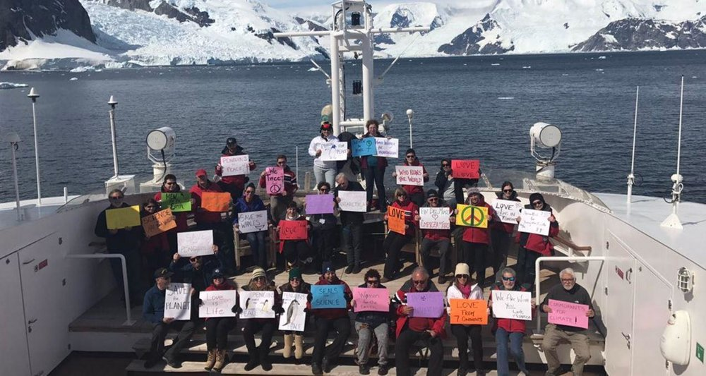 Solidarity march in Antarctica (source: www.indy100.com)
