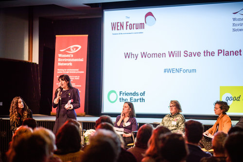 Amelia Womack speaking at WEN forum