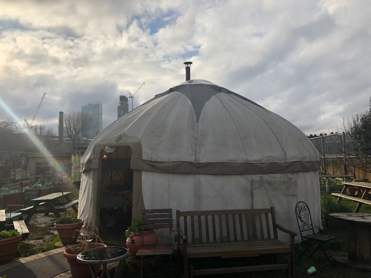 Figure 1: The yurt where it all started